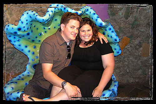 Blog - Nat and Jon in a clam