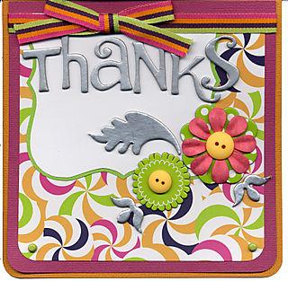 Thanks Card - Metallic CB