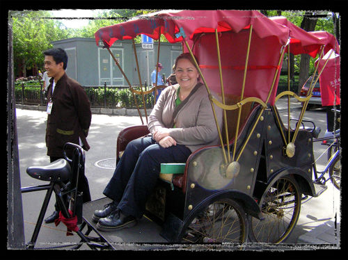 Blog - Me in a Rickshaw