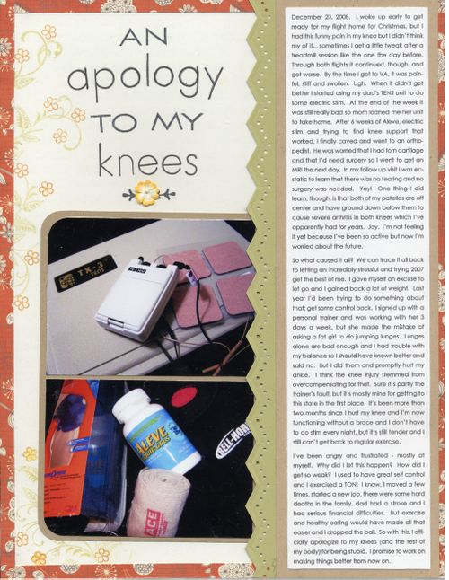 An Apology to my Knees