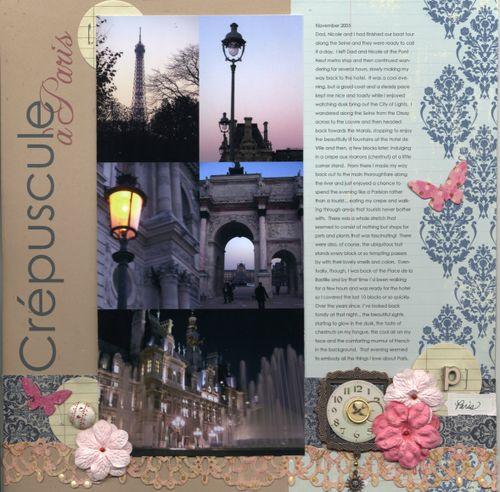 Crepuscule a Paris
