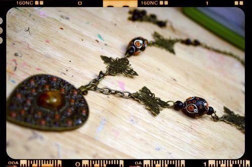 Necklace 2 - bronze pendant close-up
