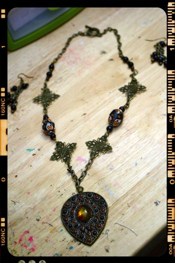 Necklace 2 - bronze studded pendant