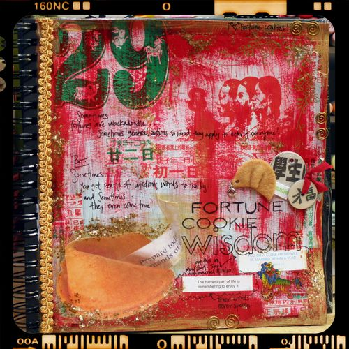Art Journal - Fortune Cookie Wisdom