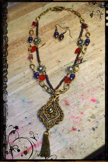 Purple and Orange Necklace