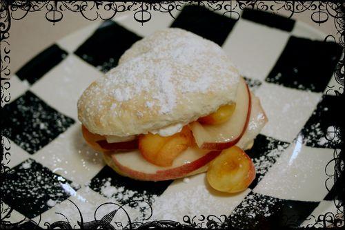 Peach and Cherry Shortcakes