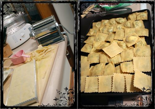 Homemade Ravioli in process