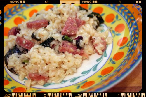 Chuck's Lemon Spinach Risotto