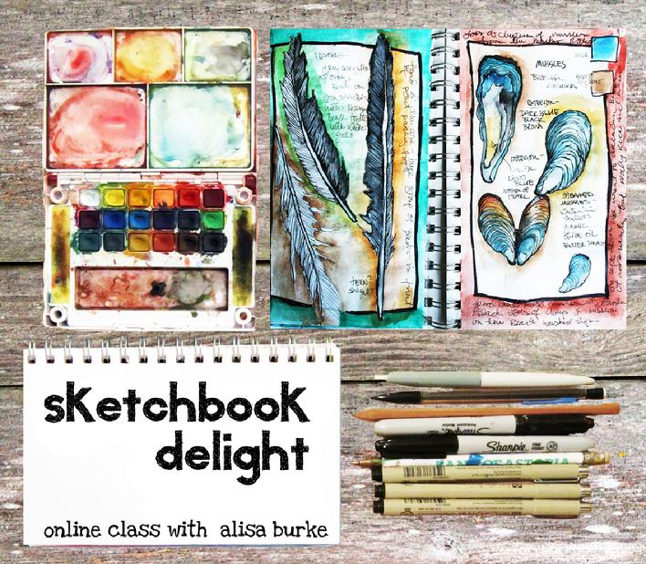 Alisa Burke Sketchbook Delight