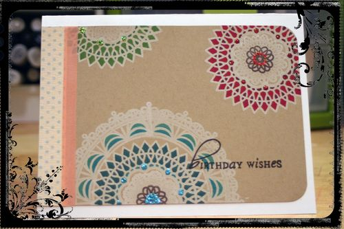 Doily Birthday Card