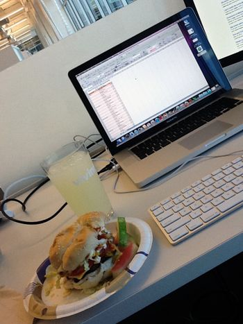 Work and burger