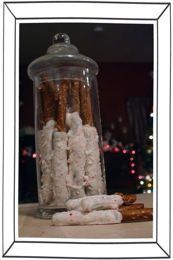 Blog - Caramel Chocolate Peppermint Pretzel Sticks