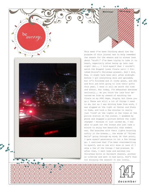 December Daily Day 14 journaling