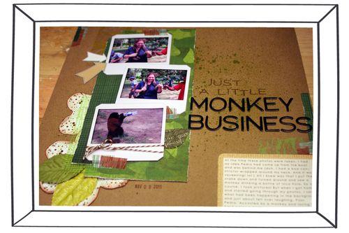 Just a Little Monkey Business close-up 2