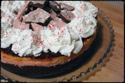 Blog - Peppermint Bark Cheesecake