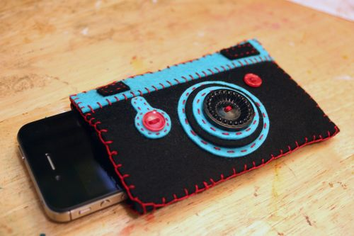 Handmade Felt iPhone Camera Case