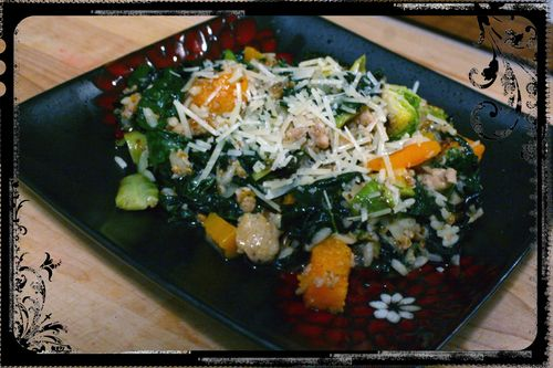 Blog - Kale, Squash and Chicken Sausage Risotto