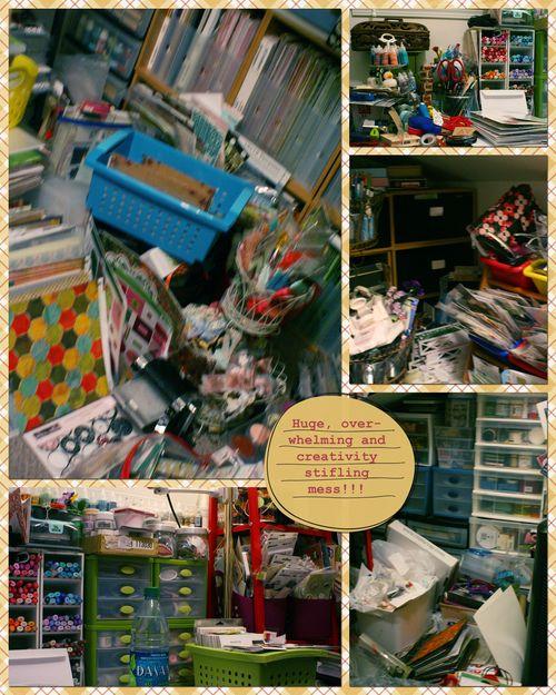Craft Attic Before Organizing