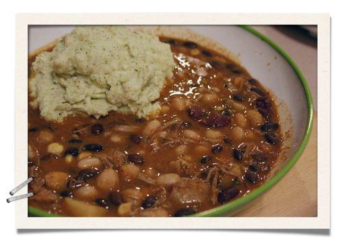 Cauliflower Puree with Tortilla Soup