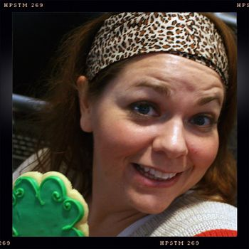 Me with Shamrock Cookie