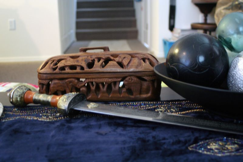 My coffee table with sword