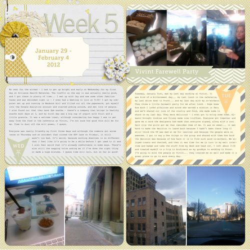 Project Life 2012 Week 5 left