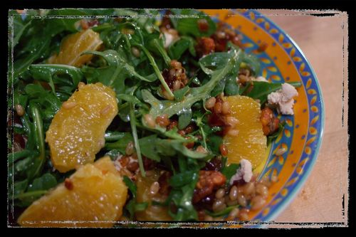 Wheat Berry Data and Arugula Salad