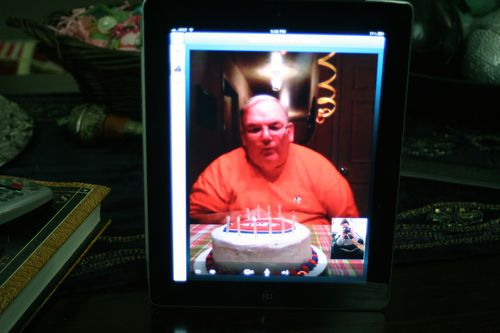Dad's Birthday by Skype