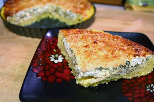 Rosemary and Artichoke Tart with Polenta Crust