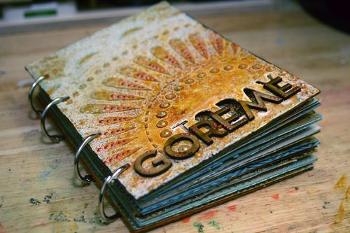 Getting Messy With Celine Finished Goreme Mini Scrapbook Gwen
