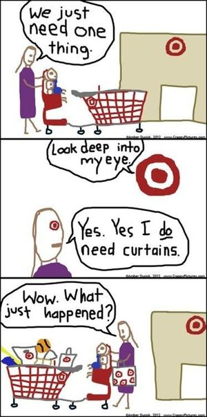 Target magical eye cartoon
