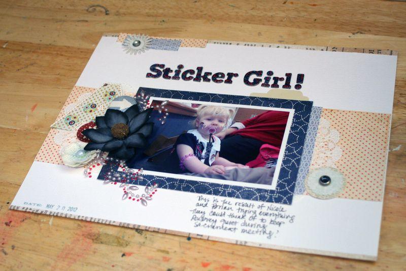 Sticker Girl close-up 1