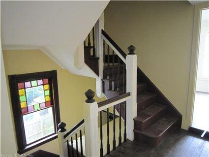 Main street staircase with window