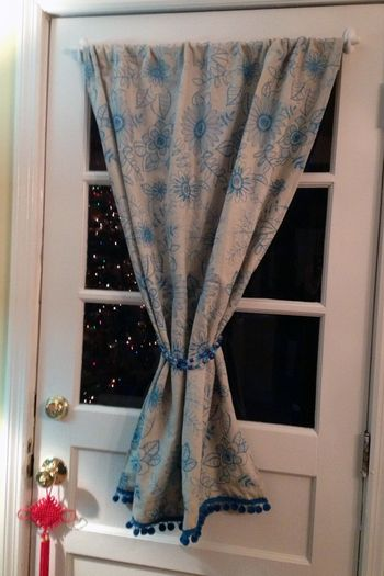 New Back Door Curtain