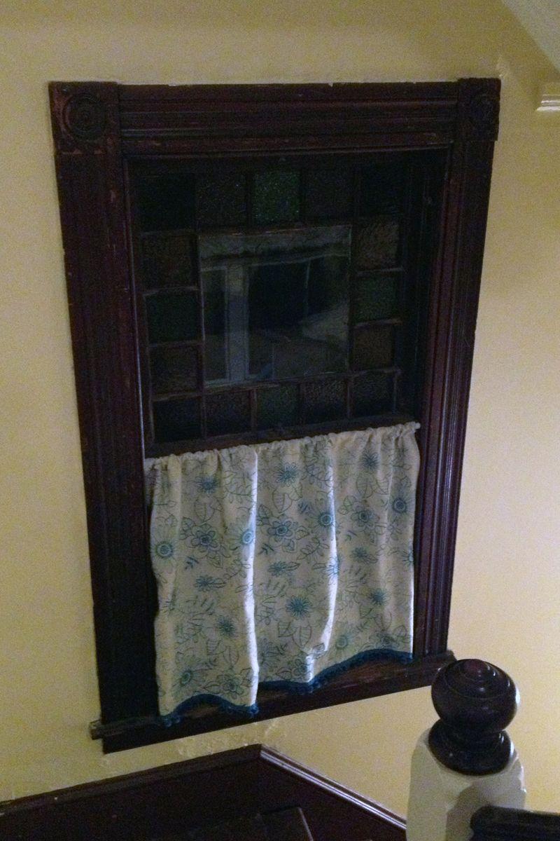 Stair Window Curtain