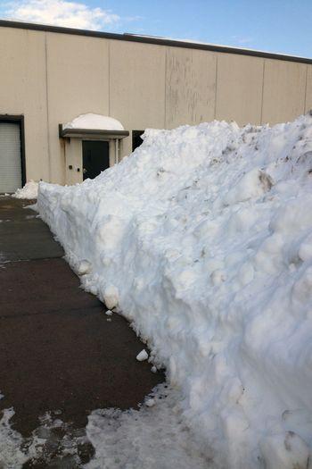 Blizzard Charlotte - Work piles