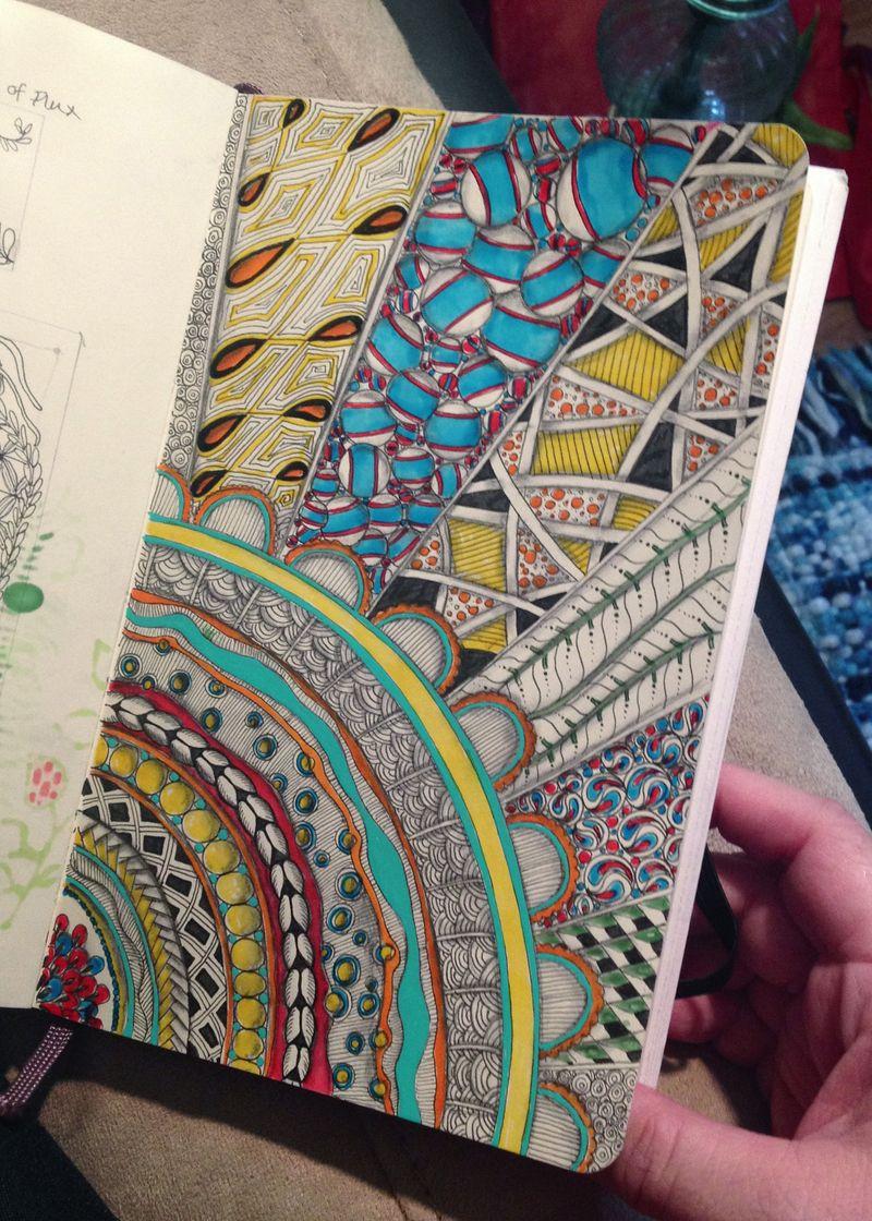 Zentangle Colored Rays - Gwen Lafleur