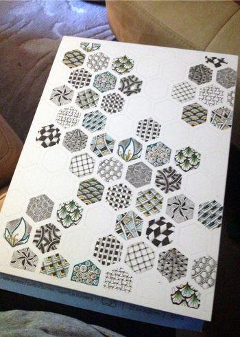 Zentangle Leaves 1 - Gwen Lafleur