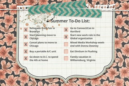 Summer To-Do Journal Card