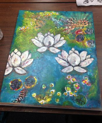 Paint Like an Artist Donna Downey Class - My final canvas