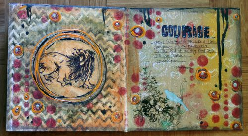 Cardboard Art Journal Inside 4