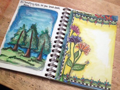 Doodling with Joanne Sharpe - Finishing Assignments