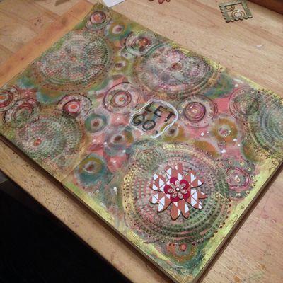Let Go Art Journal Page - Gwen Lafleur