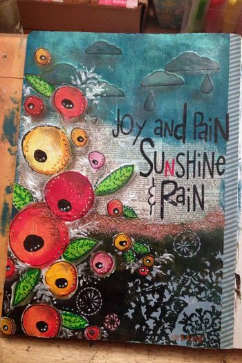 Joy and Pain Art Journal Page - Gwen Lafleur