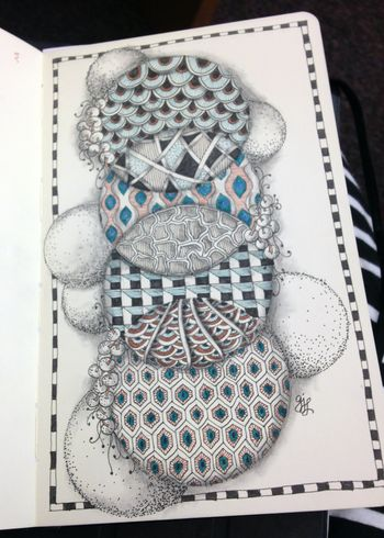 Zentangle Circles 1 - Gwen Lafleur