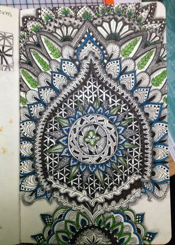 Zentangle Flowers 1 - Gwen Lafleur