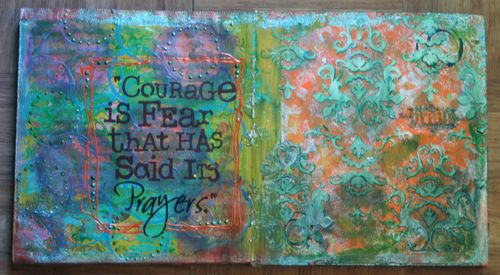 Cardboard Art Journal Inside 1