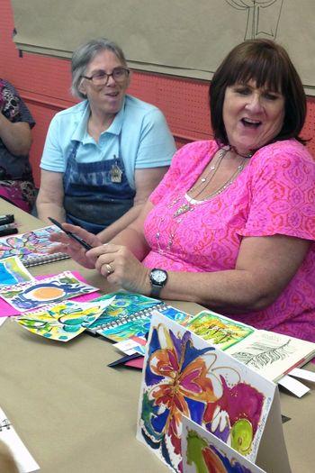 Doodling with Joanne Sharpe - Paint Doodling Demo