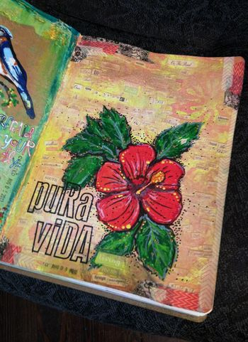 Pura Vida Art Journal Page - Gwen Lafleur
