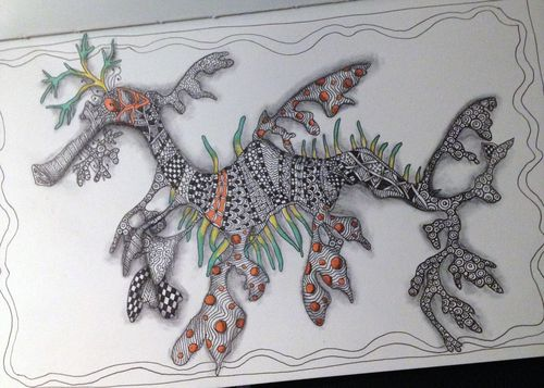 Zentangle Leafy Sea Dragon - Gwen Lafleur